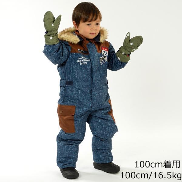 30%OFF:子供服 moujonjon (ムージョンジョン) デニム風スノーコンビ・スキーウェア 90cm〜120cm M60191 marutaka-iryo 11