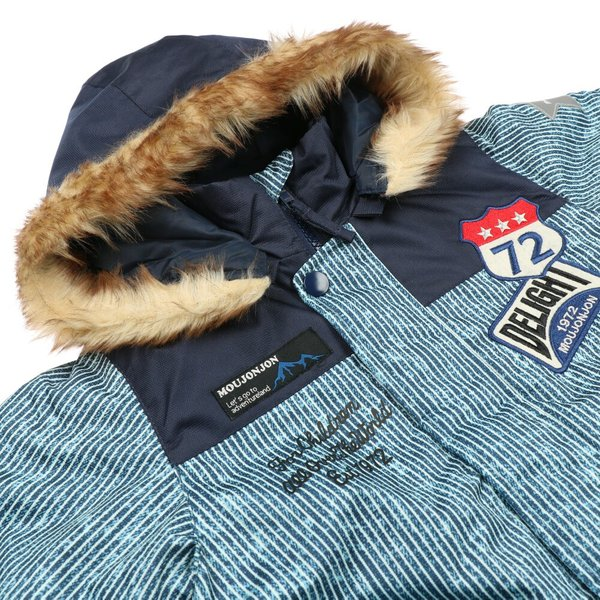30%OFF:子供服 moujonjon (ムージョンジョン) デニム風スノーコンビ・スキーウェア 90cm〜120cm M60191 marutaka-iryo 05