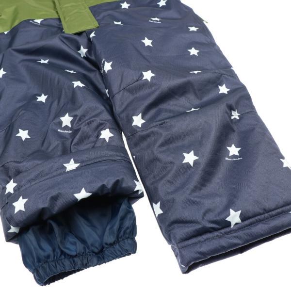 クーポン対象:30%OFF:【子供服】 moujonjon (ムージョンジョン) 星柄切替スノーコンビ・スキーウェア 90cm〜120cm M60192 marutaka-iryo 10