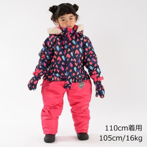 クーポン対象:30%OFF:【子供服】 moujonjon (ムージョンジョン) ハート柄スノーコンビ・スキーウェア 100cm〜120cm M60195|marutaka-iryo|11