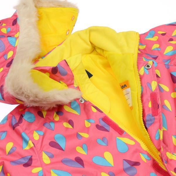 クーポン対象:30%OFF:【子供服】 moujonjon (ムージョンジョン) ハート柄スノーコンビ・スキーウェア 100cm〜120cm M60195|marutaka-iryo|06