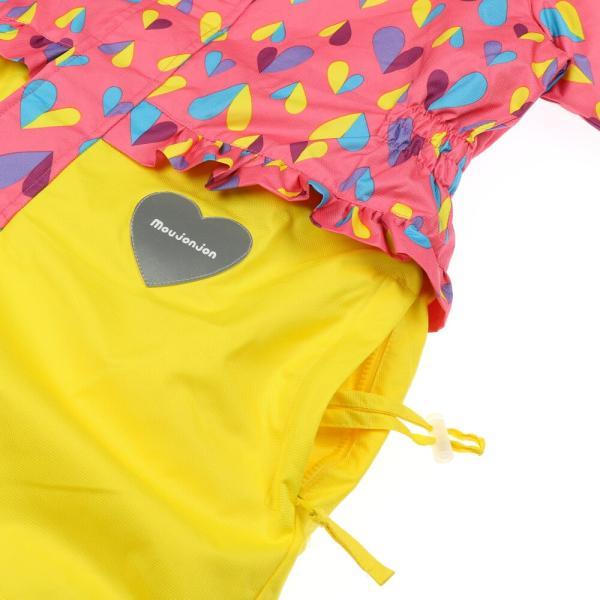 クーポン対象:30%OFF:【子供服】 moujonjon (ムージョンジョン) ハート柄スノーコンビ・スキーウェア 100cm〜120cm M60195|marutaka-iryo|08