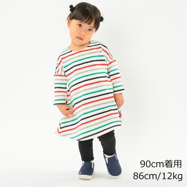 子供服 moujonjon ムージョンジョン ネット限定日本製ボーダーワンピース 80cm〜140cm M60350 限定販売|marutaka-iryo|08
