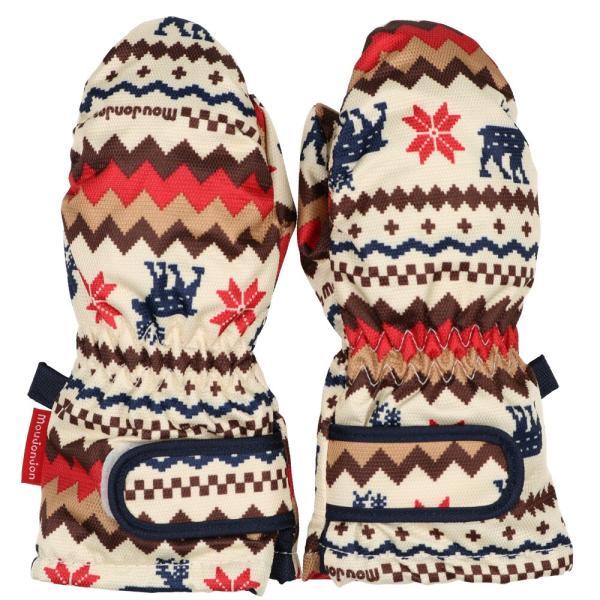 クーポン対象:30%OFF:【子供服】 moujonjon (ムージョンジョン) デニム風・ノルディック・星柄スノーグローブ・手袋 S,M M61891 marutaka-iryo 04