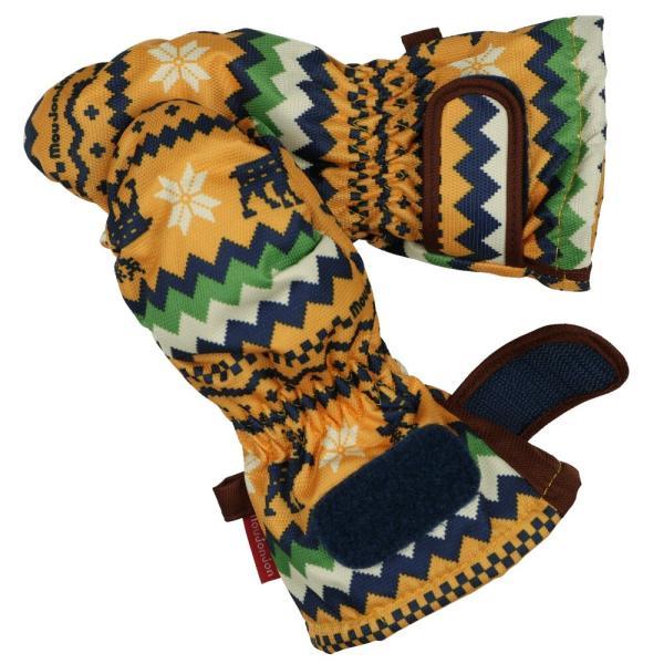 クーポン対象:30%OFF:【子供服】 moujonjon (ムージョンジョン) デニム風・ノルディック・星柄スノーグローブ・手袋 S,M M61891 marutaka-iryo 09