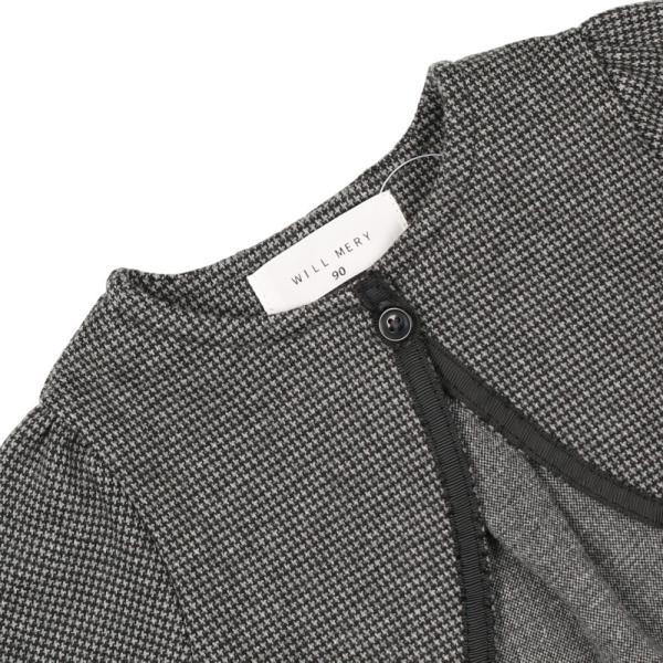 20春セール フォーマル: 子供服 WILL MERY (ウィルメリー) チェック柄・無地プチフォーマルジャケット 80cm〜130cm N22401|marutaka-iryo|05