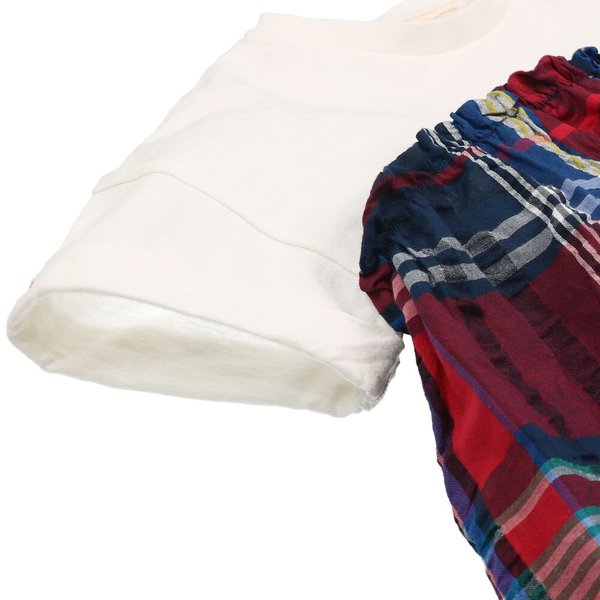 <50%OFF>20夏セール【子供服】 Daddy Oh Daddy (ダディオダディ) チェック柄切替チュニックTシャツ 80cm〜150cm V32833 marutaka-iryo 06