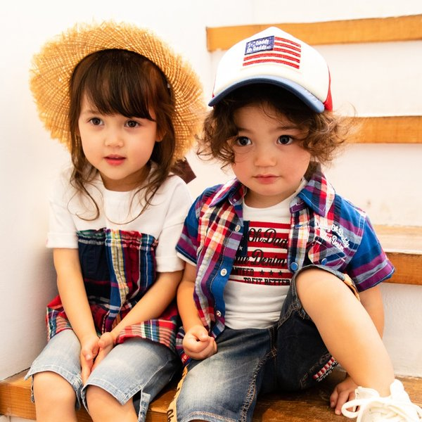 <50%OFF>20夏セール【子供服】 Daddy Oh Daddy (ダディオダディ) チェック柄切替チュニックTシャツ 80cm〜150cm V32833 marutaka-iryo 10