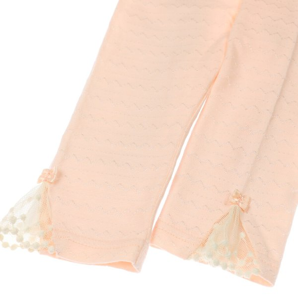 20春セール 子供服 Kids zoo (キッズズー) 裾レースリボン付きパンツ・レギンス・スパッツ 70cm〜95cm W23000|marutaka-iryo|06