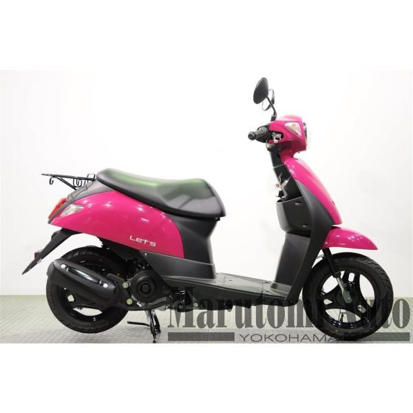 レッツ 新車 赤 カード支払いOK スズキ SUZUKI 2019年モデル 50ccスクーター 原付 2BH-CA4AA ディープマゼンタ|marutomiauto0103|02