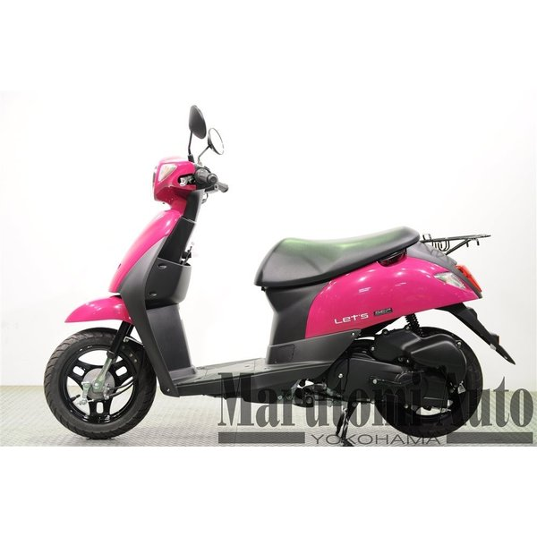レッツ 新車 赤 カード支払いOK スズキ SUZUKI 2019年モデル 50ccスクーター 原付 2BH-CA4AA ディープマゼンタ|marutomiauto0103|03