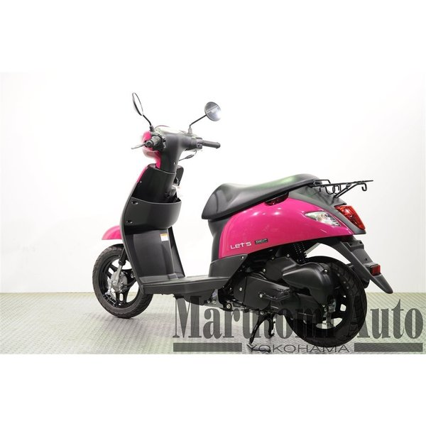 レッツ 新車 赤 カード支払いOK スズキ SUZUKI 2019年モデル 50ccスクーター 原付 2BH-CA4AA ディープマゼンタ|marutomiauto0103|05