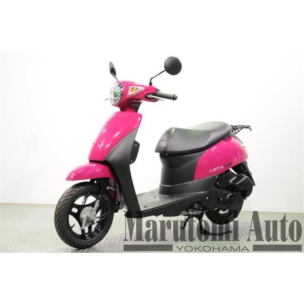 レッツ 新車 赤 カード支払いOK スズキ SUZUKI 2019年モデル 50ccスクーター 原付 2BH-CA4AA ディープマゼンタ|marutomiauto0103|06