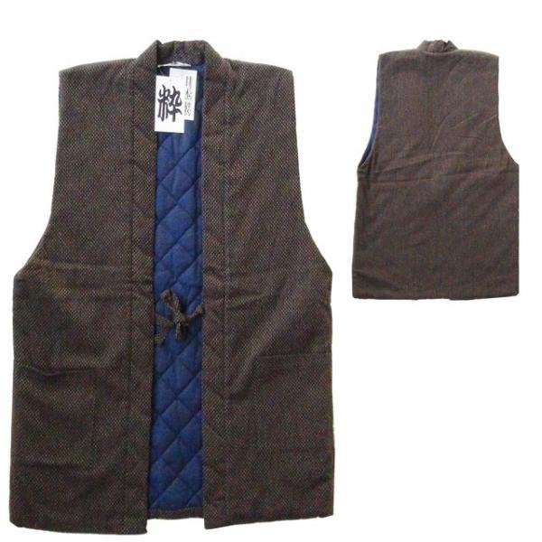 半纏 袖なし 日本製 高級刺し子の羽織 ポイント2倍 121-1803 メンズ はんてん 男性用・ 袢纏・おしゃれ・綿入れ・どてら・ちゃんちゃんこ・大きい・綿入れ|marutoyo0122|02