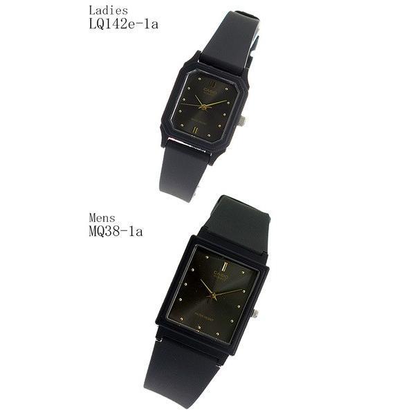 ペアウォッチ カシオ クオーツ 腕時計 MQ38-1A LQ142E-1A|marutto-markets|02