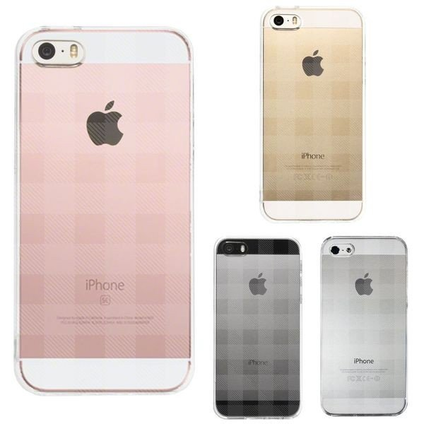 iPhone5/5S/SE ハードスマホケース キンガム チェック|marutto-markets