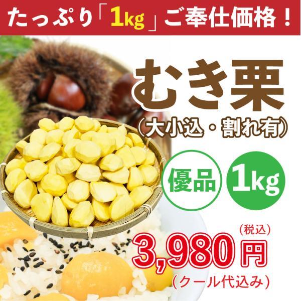 栗 愛媛県産 むき栗  優品 大小込・割れあり 1kg 大容量