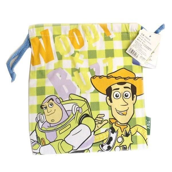 巾着給食袋Sサイズトイストーリーグリーンチェック【4点までレターパックライト対応】