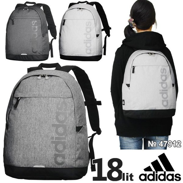 3f7ad3937ac2 【SALE】 アディダス adidas リュックサック 全3色 18リットル デカロゴ 可愛い 通学 スクール