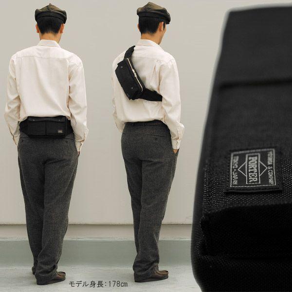 吉田カバン ポーター スモーキー ウエストバッグ ウエストポーチ ブラック/ネイビー PORTER SMOKY 592-07507|maruzen-bag|03