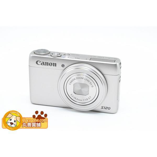 キャノン CANON デジタルカメラ パワーショット PowerShot S120 シルバー 程度A 中古 送料無料 質屋出店 動画あり