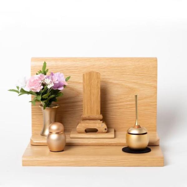 エレン セット 位牌夜空の星(3.0寸)+cherin mini(ゴールド)+骨壺(PG)+花立シャンティ(シャンパンゴールド)