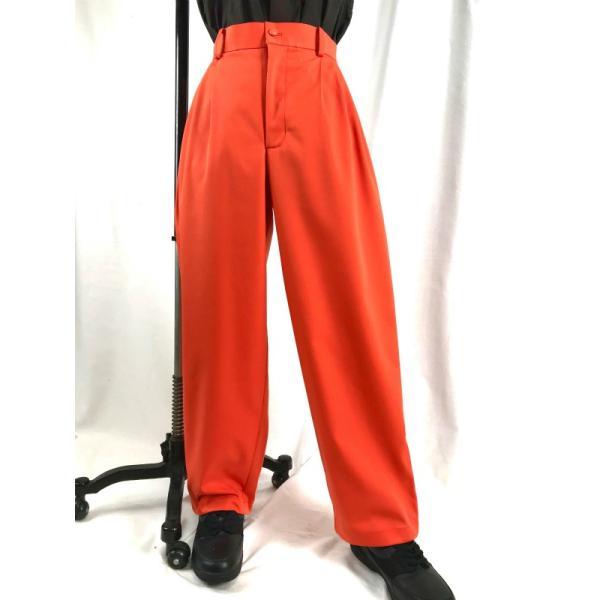 EZ-PANTS/型番EZ001-P0002 チノストレッチ オレンジ ダンス衣装 イージーパンツ スラックス 男女兼用 日本製 チノパン サイズ注文可能