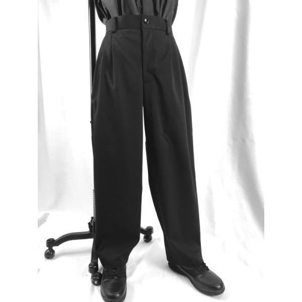 EZ-PANTS/型番EZ001-P0004 チノストレッチ 黒 ダンス衣装 イージーパンツ スラックス 男女兼用 日本製 チノパン サイズ注文可能