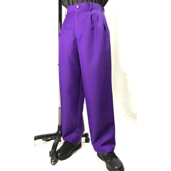 EZ-PANTS/型番EZ001-P0013 紫 ダンス衣装 XS/S/M/L 男女兼用 日本製 イージーパンツ スラックス パープル カラーパンツ