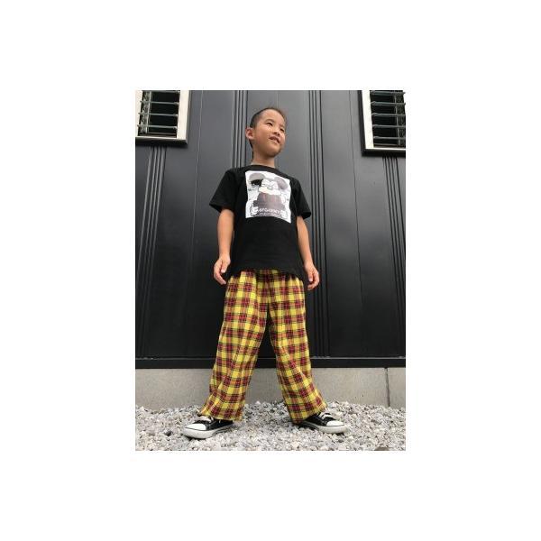 EZ-PANTS/型番EZ000-SP0108 黄 タータンチェック ダンス衣装 日本製 男女兼用 120/130/140/150  イージーパンツ スラックス