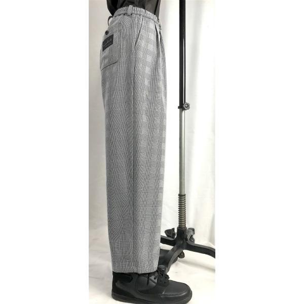 EZ-PANTS/型番EZ000-TP0113 グレンチェック ダンス衣装 日本製 男女兼用 S M  イージーパンツ スラックス 黒 グレー
