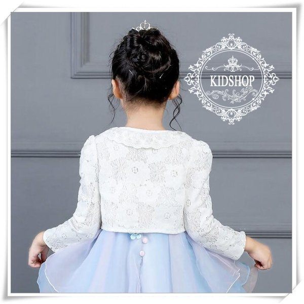 5604f6eb087a4 ... 女の子子供服 シンプルボレロ キッズフォーマル 羽織物 カーディガン 結婚式 入学式長袖 ...