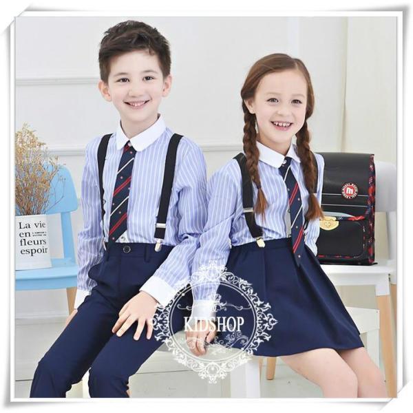 学生服制服スーツアップ女の子スカート子供服シャツ女子高生卒業式 入学式4点のセット|masamasa777