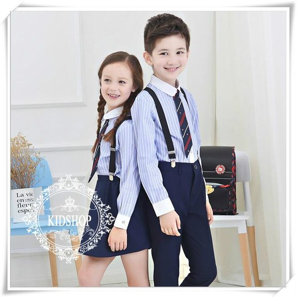 学生服制服スーツアップ女の子スカート子供服シャツ女子高生卒業式 入学式4点のセット|masamasa777|02