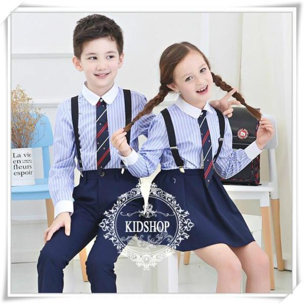 学生服制服スーツアップ女の子スカート子供服シャツ女子高生卒業式 入学式4点のセット|masamasa777|03
