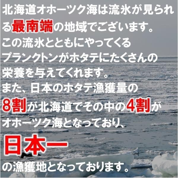 ホタテ貝柱 北海道産 1kg化粧箱入 お刺身用 1kgに41〜50粒入 中サイズの3Sサイズ|masaoshoten|06