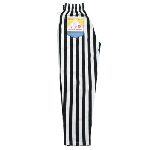 クックマン シェフパンツ ストライプ Cookman Chef Pants 「Wide stripe」 Black|mash-webshop|02