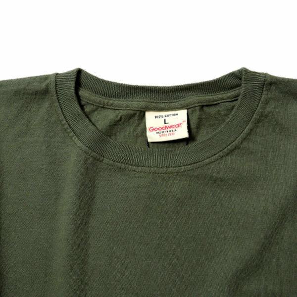 グッドウェア ポケット Tシャツ Goodwear L/S CREW NECK POCKET TEE|mash-webshop|02