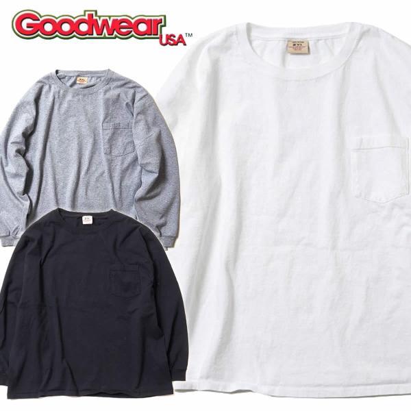 グッドウェア ポケット Tシャツ Goodwear BIG L/S CREW NECK POCKET TEE mash-webshop
