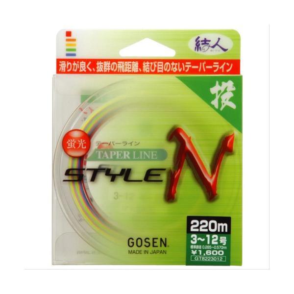 ゴーセン テーパーライン スタイルN 170M 4−12【ゆうパケット】