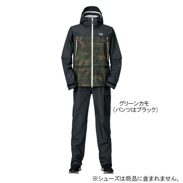 ダイワ レインマックス デタッチャブルレインスーツ DR-30009 L グリーンカモ【】