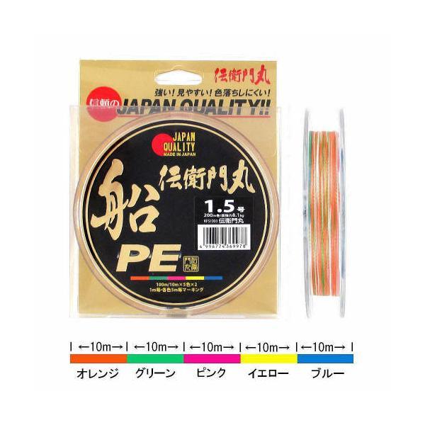 タカミヤ 伝衛門丸 船PE KFS1003 200m 1.5号【ゆうパケット】