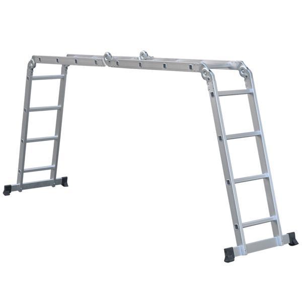 はしご 脚立 便利 梯子 アルミ製 4.6m 保証あり 安全ロック 滑り止めスタンド 付属 はしご兼用脚立 ハシゴ兼用脚立 ハシゴ 多機能アルミはしご 多機能|masuda-shop|06