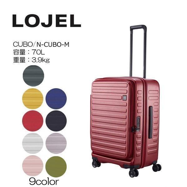 LOJEL ロジェール CUBO Mサイズ メーカー10年間保証付 スーツケース キャリーケース LOJEL CUBO ロジェール スーツケース  n-cubo-m(新型)|masuya-bag