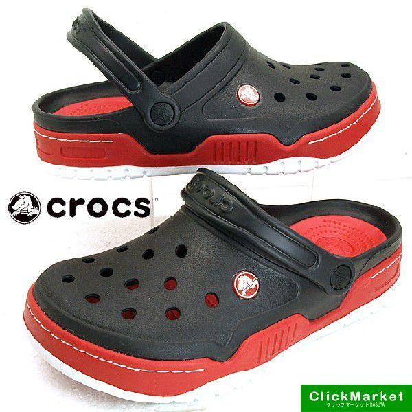 クロックス crocs Front Court Clog 14300-063 黒/赤 フロントコート クロッグ サンダル メンズ masuya92
