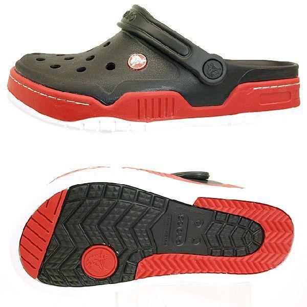 クロックス crocs Front Court Clog 14300-063 黒/赤 フロントコート クロッグ サンダル メンズ masuya92 03