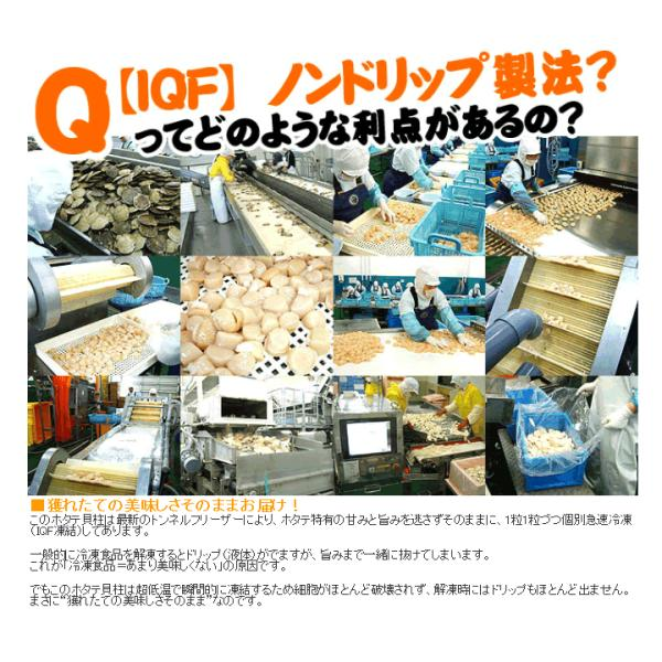 北海道産 特産品 ほたて 帆立 北海道のホタテ貝柱(訳あり 小粒 割れ 欠け)約1kg前後 刺し身 IQF個凍 冷凍便 送料無料|masuyone|11