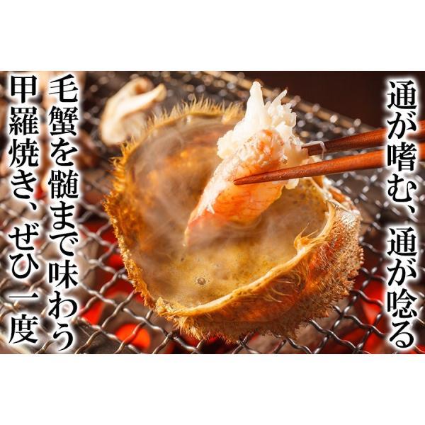 カニ かに 毛ガニ 訳あり食品 大小バラつき有 オホーツク海産 特大茹で毛蟹 総重量2kg (解凍後1.5kg前後)  冷凍便 送料無料|masuyone|05