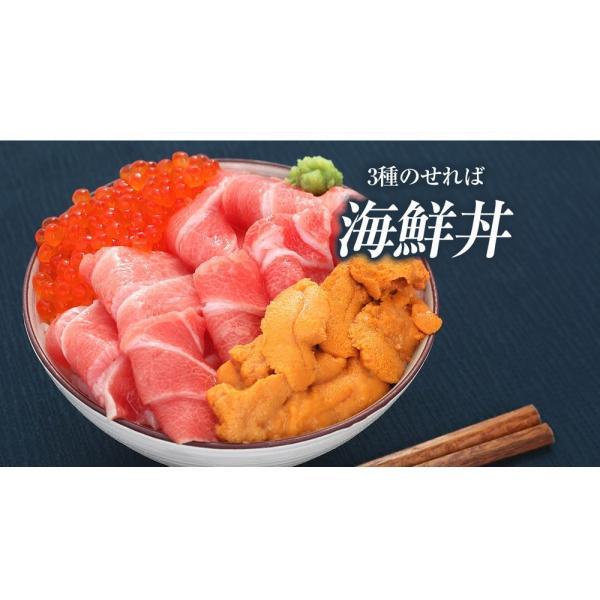 残300個限定 鮪 本マグロ大トロ 北海道産いくら醤油漬け 無添加生うに 海鮮丼セット3人前(計280g 本まぐろ大とろ100g イクラ80g ウニ100g) 冷凍便|masuyone|12