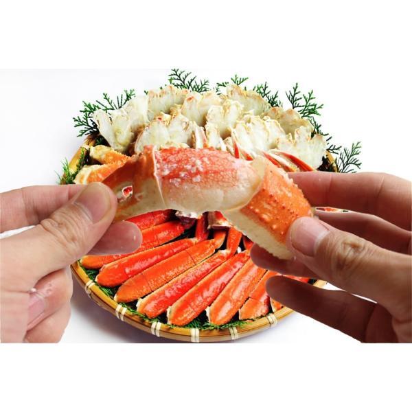 お歳暮 ギフト ズワイガニ かに カニ 蟹 ずわい 殻に切れ目入で楽&旨茹で済みで即美味しい本ズワイ1.2kg 冷凍便 送料無料|masuyone|02